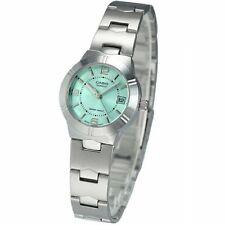 100% Genuine Latest Casio LTP1241D-3A Green Dial Ladies Date Analog Dress Watch