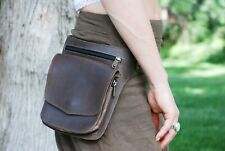 Brown Leather Fanny Pack, Belt Bag for Women, Hip Bag Men, Festival Belt Bag