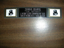 THOMAS HEARNS (BOXING) NAMEPLATE FOR SIGNED GLOVES/TRUNKS/PHOTO DISPLAY