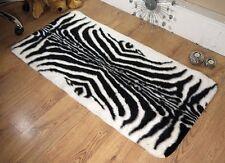 Zebra EX - Large Faux Sheepskin Shaggy Flokati Rug Carpet Non-Slip UK MADE