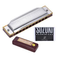 Suzuki Folkmaster Standard 10-Hole Diatonic Harmonica Key of C 20 Tone New J6U2