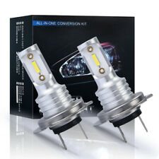 H7 LED Headlight Bulbs Kit High Low Beam 40W 4000LM Super Bright 6000K White 2x