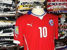 CHILE home 2014 shirt - VALDIVIA #10 - Colo Colo-Palmeiras-Camiseta-Puma-Jersey
