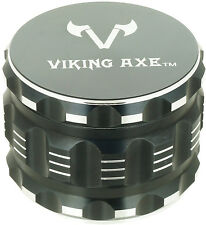 """2.375""""VIKING AXE Black 4 Piece Grinder Gift Box GV003 -Holiday Limited"""
