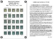 Nuancier spécialisé du timbre Sage 1 centime bleu type II