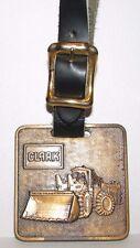CLARK 475B Wheel Loader Brass Pocket Watch Fob Cantwell Machinery Company Ohio