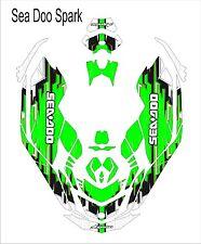 Sea-Doo Bombardier Spark 2 3 Jet Ski Graphic Kit Wrap pwc decals wrap green blac