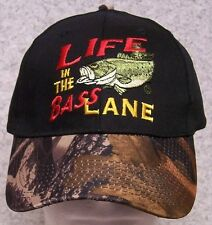 0be2fed0e03 Embroidered Baseball Cap Fishing Life in the Bass lane NEW 1 hat size fits  all