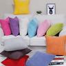 Pillow Case Sofa Waist Throw Cushion Cover Solid Corn Corduroy Home Decor E97