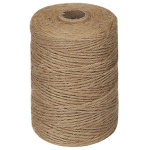 200M/ Roll 2mm Jute Twine Natural Thick Brown Twine for Home Gardening PlantW7K3
