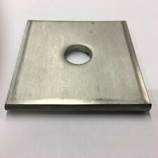 """1/2"""" x 3"""" x 3"""" x 3/16"""" Thick Square Plate Washer, 304 Stainless, Qty (25)"""
