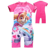 New Girls Kids PAW PATROL Costume Swimwear Sunsafe Sunsuit Swimsuit 1PC Age 3-8Y