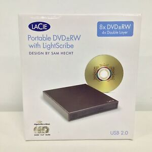 Lacie Portable DVD RW with LightScribe USB 2.0 #606