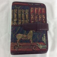 Day Timer Tapestry Leather Planner Compact Size Binder Organizer Franklin Covey
