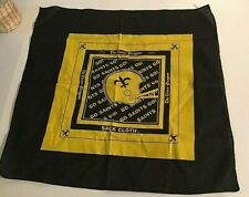 NFL NEW ORLEANS SAINTS BLACK and GOLD SACK CLOTH TIMES PICAYUNE SCREENED IMAGE