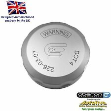 Oberon Performance Silver Ducati Rear Brake Reservoir Cap RES-0003-SILVER
