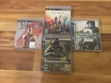 4 PS3 Games - W2K15 - HITMAN - GHOST RECON 2 - SOCOM CONFRONT - GOOD CONDITION