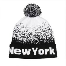 Tuque Womens Mens Acrylic Winter Cap Baggy Slouchy NEW YORK Toque Hat