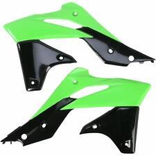 Acerbis Radiator Shrouds Scoops Plastic Green/Black Kawasaki KX250F 2013-2014