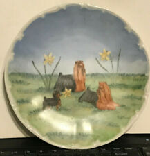 Vintage Collectors Plate Yorkshire Terriors Barnhart Studios