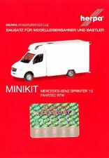 HERPA MiniKit 1:87 Mercedes-Benz Sprinter Fahrtec RTW weiß Bausatz #013390 NEU