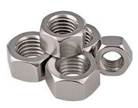 M10 TAPPO Esagonale Metrica Acciaio Inossidabile Nuts A2 304 DIN 197