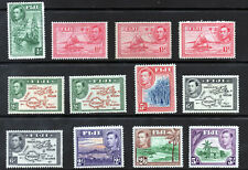 FIJI 1938-55 King George VI Pictorial Part Set SG 249a to SG 266 MINT