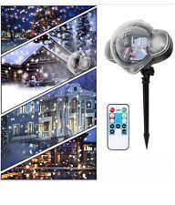 Christmas LED Projector Lights SnowFlurries falling Snowfall Snowflake spotlight