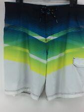 Speedo Men's Front Tie Board Shorts Swim Trunks Sz. 38 Multi-Color