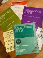 Rare 1979 Wimbledon Tennis Program + First Day Order of Play + More McEnroe Borg