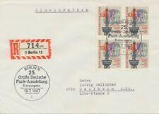 BERLIN 1967, 25. Große Deutsche Funkausstellung, Berlin Viererblock auf Kab.-FDC