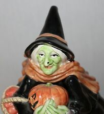 VINTAGE Cookie Jar 1987 FITZ & FLOYD Halloween WITCH