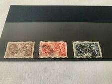 More details for gb kgv 1934 re engraved seahorses sg 450-452 fine used