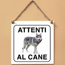 Northern Inuit 5 Attenti al cane Targa cane cartello ceramic tiles