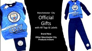 Manchester City Pyjamas Official Logo Crested Football Fans Gifts