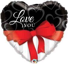 Globos de fiesta color principal rojo corazón