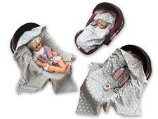 BABEES© Babyschale MINKY Einschlagdecke Wendedecke Autositz Kinderwagen Decke SG