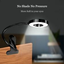 Flexible USB Large Clip On LED Desk Lamp Home Office Bed Reading Night Light