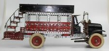 NICE VINTAGE 1920's A.C. GILBERT WHITE TRUCK ERECTOR SET BUILT DOUBLE DECKER BUS