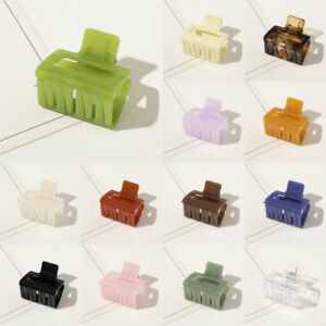 Geometric Square Solid Color Hair Claws Acrylic Resin Hairpin Headwear Accessory