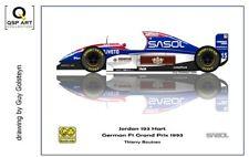 Coffee Mug 1993 Jordan 193 Hart #15 Thierry Boutsen (BEL) by Guy Golsteyn