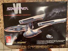 Star Trek Vi: The Undiscovered Country Uss Enterprise Amt/Ertl Kit 1991 Open Box