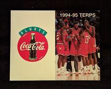 1994-95 University of Maryland Terrapins Basketball Schedule  - Joe Smith