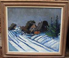 Arnold William Pedersen 1912-1986, winterliche Dorfszene, um 1960/70