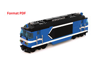 ** LEGO CITY TRAIN INSTRUCTIONS ** Locomotive SNCF BB67400 - 8 Tenons Large