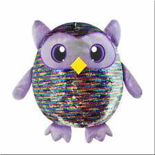 Shimmeez Large 14in Leo Owl Plush Soft Sequin Toy