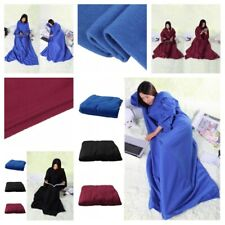 Robe Wrap Wearable Blanket Portable Sofa Couch Winter Warm Sleeves Accessories