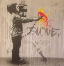 Martin Whatson Urban Expressionism- Original Canvas Dface Dolk Banksy Kaws Pobel