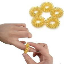 Sujok Rings Finger Massager Therapy Acupressure Pain Circulation Acupuncture 5pc