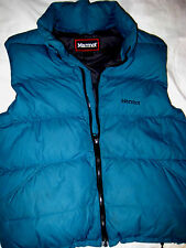 MARMOT GOOSE DOWN FILLED PACKABLE ZIP JACKET VEST-MIDORI GREEN-EMBROIDERED- S